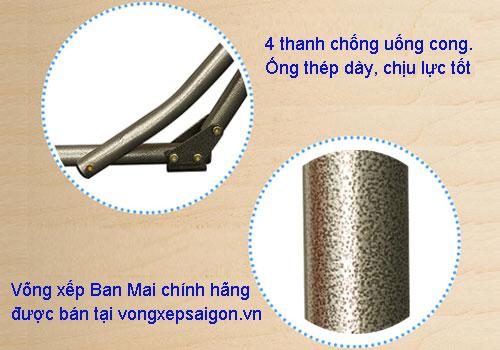 vong xep ban mai chinh hang co 4 thanh chong duoc uon cong