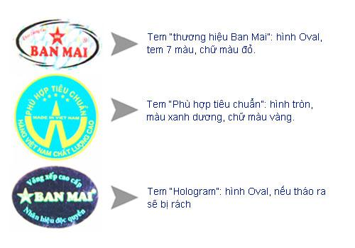 tem chính hãng của võng xếp Ban Mai