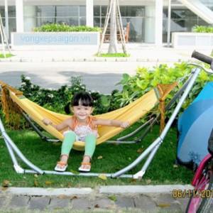 Võng xếp em bé trẻ em Ban Mai