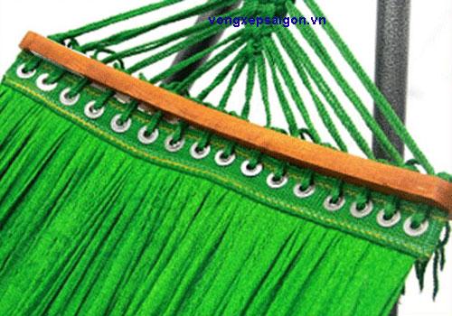võng lưới khổ rộng cán gỗ cao cấp 20 lỗ