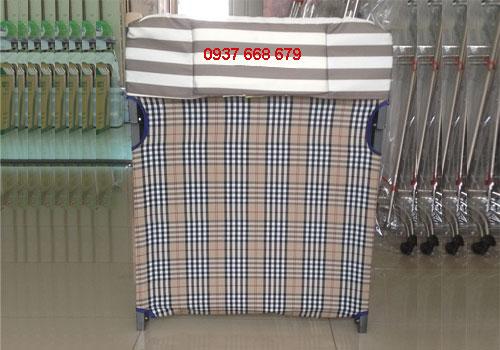 giường xếp gấp gọn vải bố